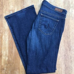 AG The Angelina Dark Petite Bootcut 29R Jeans